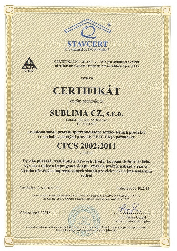 CFCS 2002:2011 SUBLIMA
